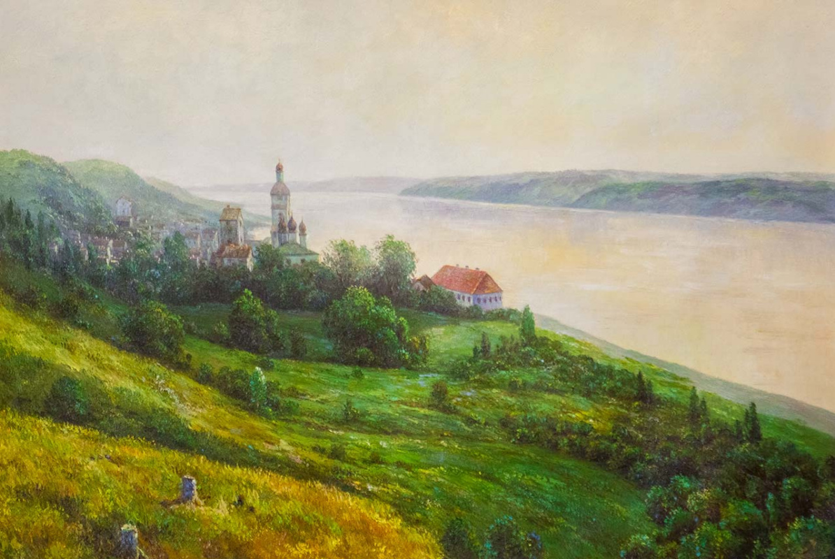 Savely Kamsky. Copy of the oil painting Golden Reach