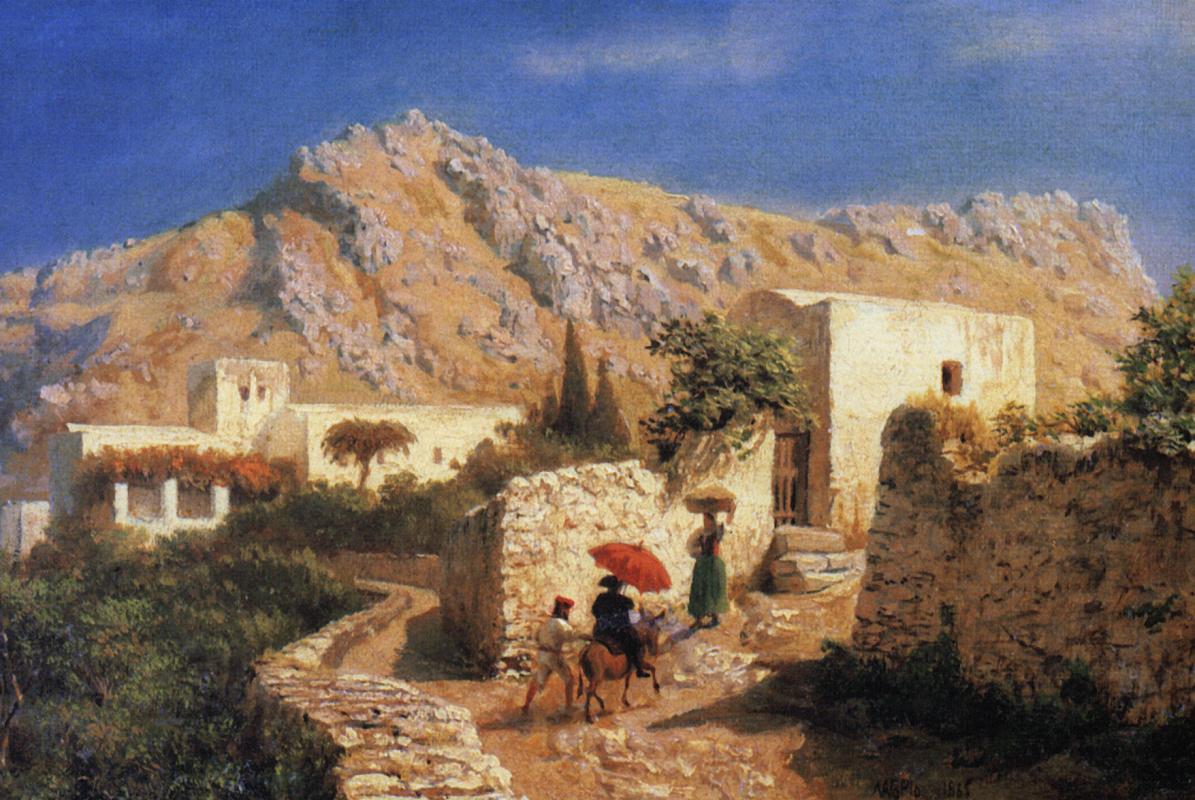 Лев Феликсович Лагорио. Итальянский горный пейзаж