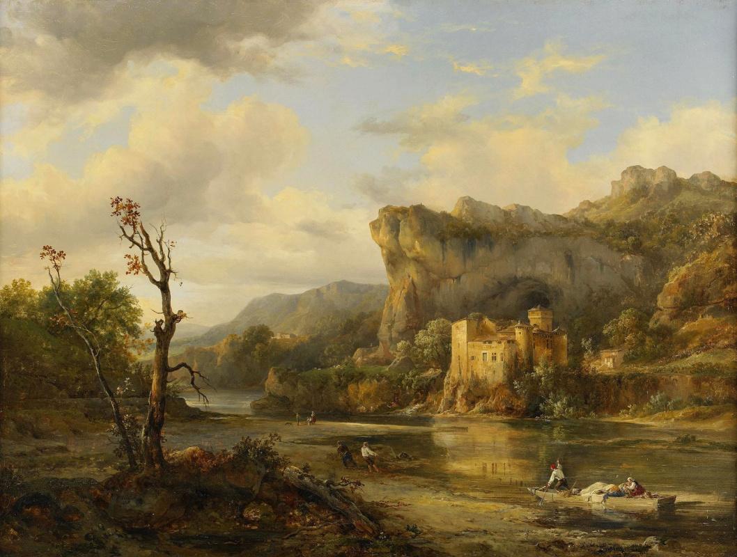 Jacques Raymond Brascassa. Landscape with fishermen