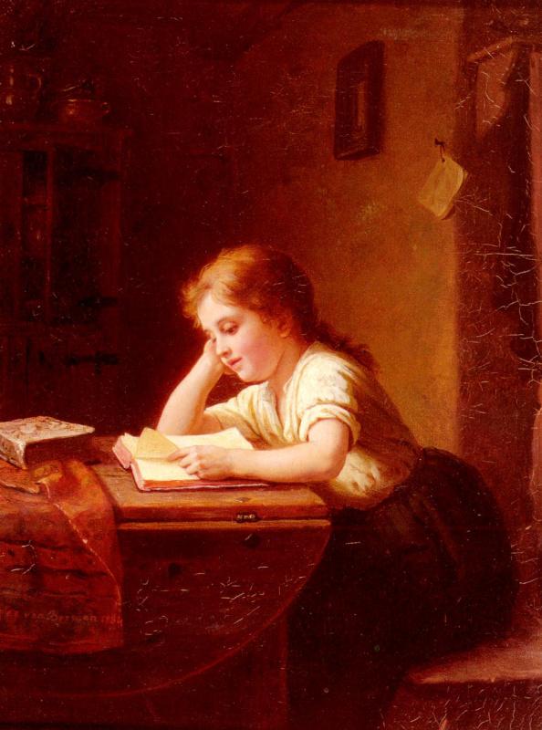 Иоганн Георг Мейер фон Бремен. Девушка читает