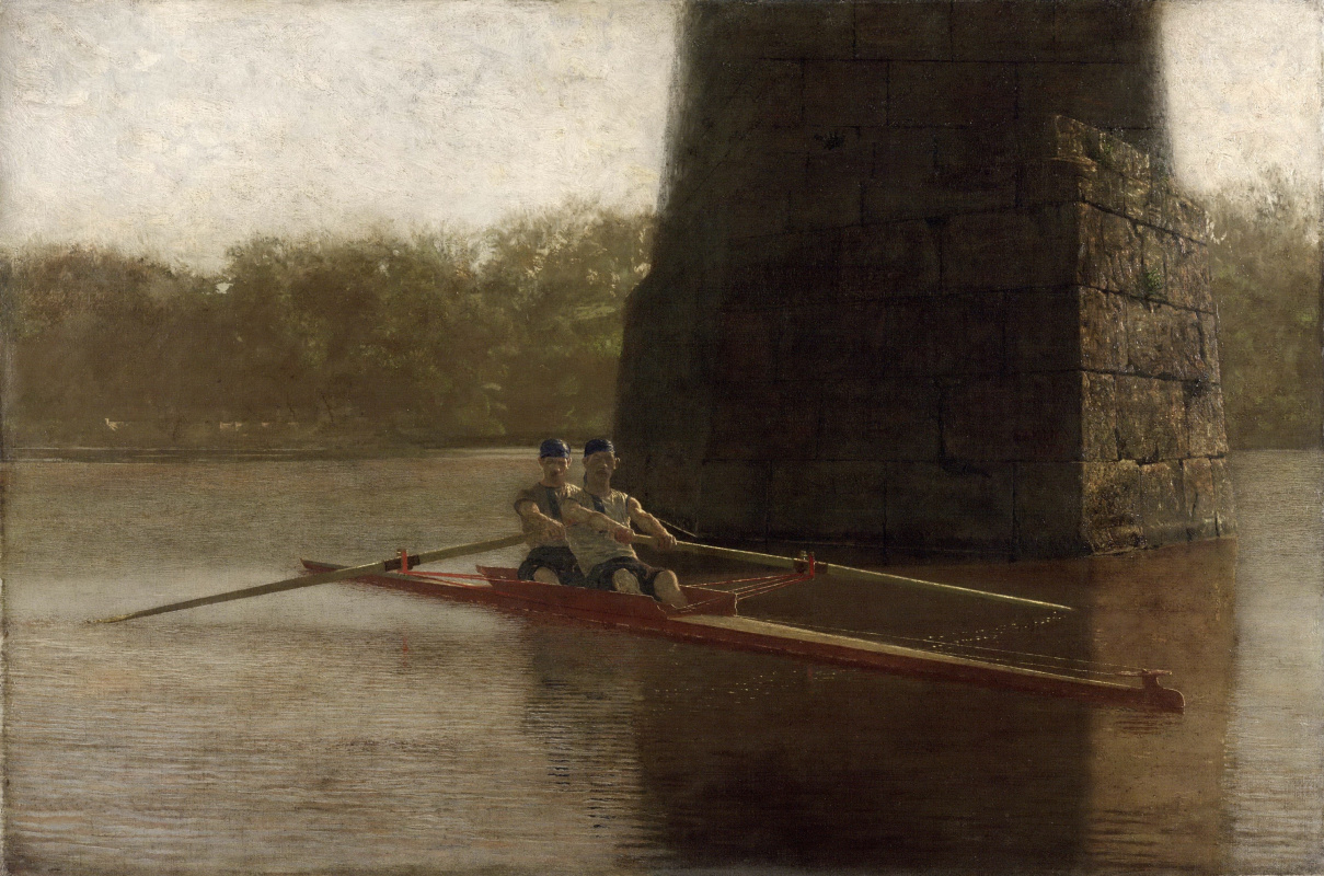 Thomas Eakins. Cheerful couple in a boat