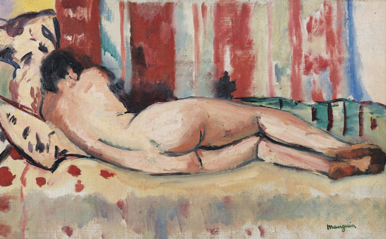 Henri Manguin. Reclining Nude from the back