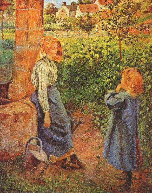 Эдвард Кертис. Женщина и ребенок у стены