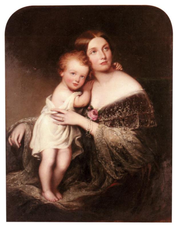 Ричард Бакнер. Портрет княгини Марии Баден, герцогиня Гамильтон