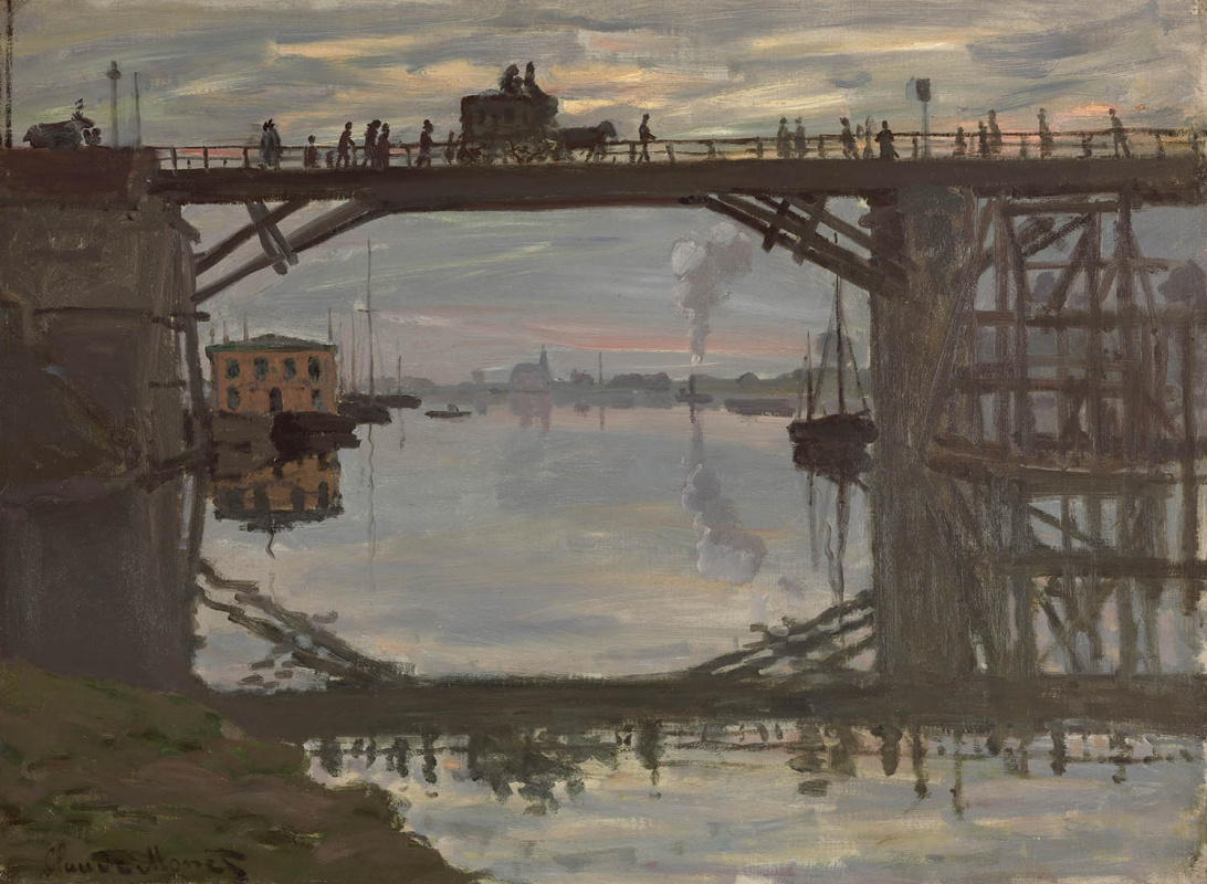 Клод Моне. Деревянный мост