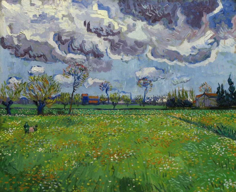 Винсент Ван Гог. Пейзаж под грозовым небом