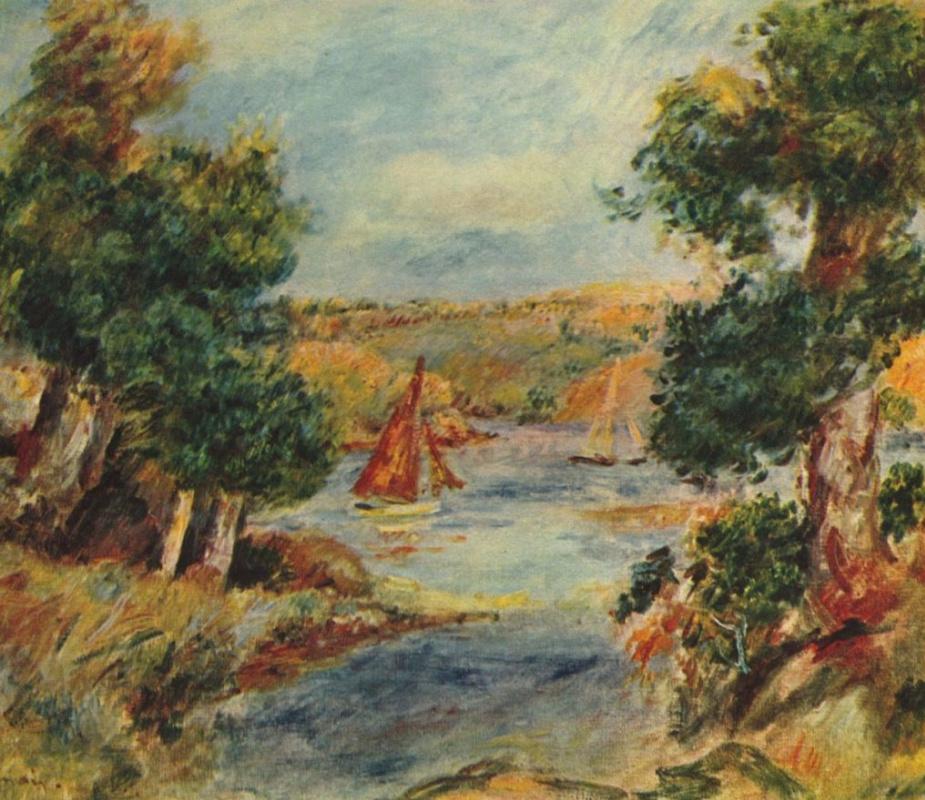 Pierre-Auguste Renoir. Sailing boats in Caen