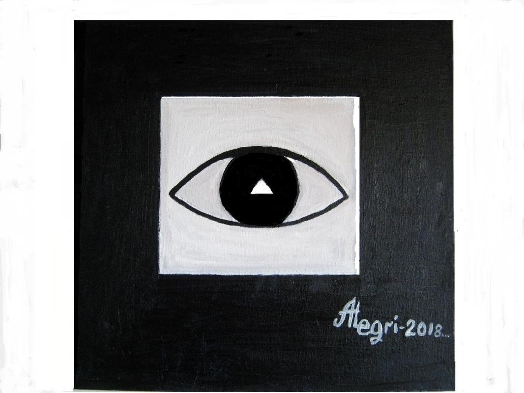 "Alexey Grishankov (Alegri). ""Black Eye in Black Square"" (""Черный глаз в черном квадрате"")"