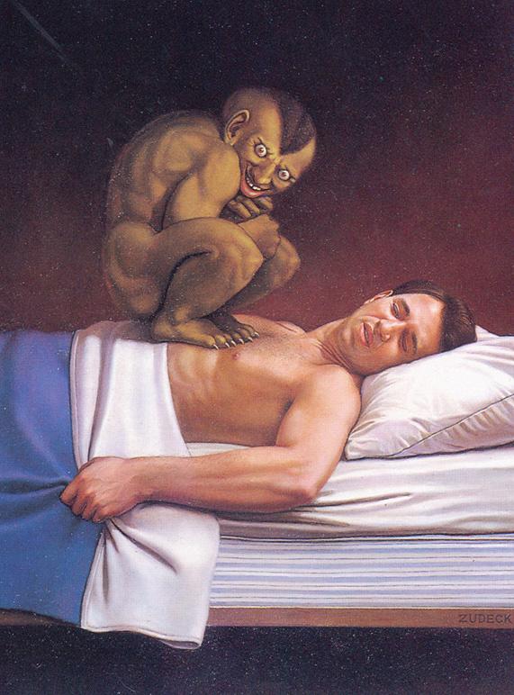 Дэррил Зудекк. Мужчина в кровати