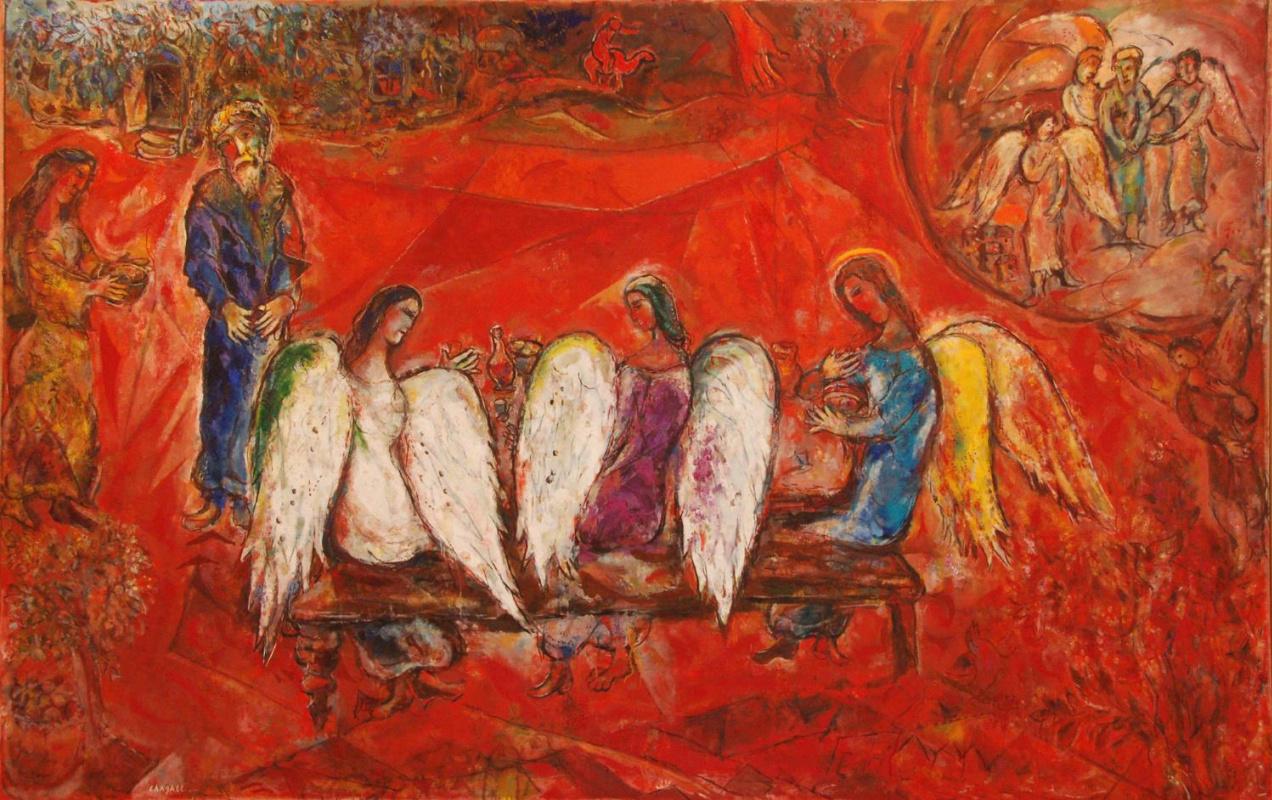 Марк Захарович Шагал. Авраам и три ангела