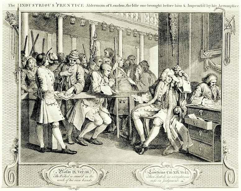 William Hogarth. Diligence and laziness