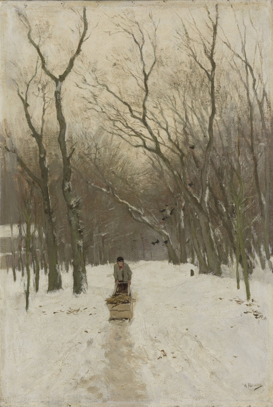 Anton Maouve. Winter in Scheveningen
