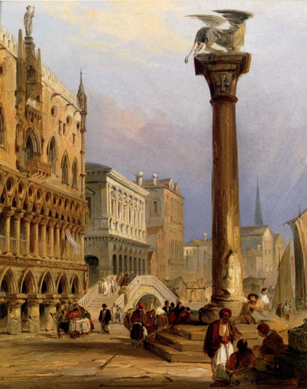 Эдвард Причетт. Площадь Св. Марка и Дворец дожей, Венеция