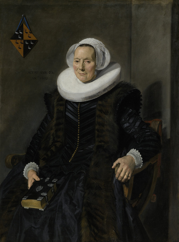 France Hals. Portrait of Marit Vogt, wife of Peter Alikana, the mayor of Harlem