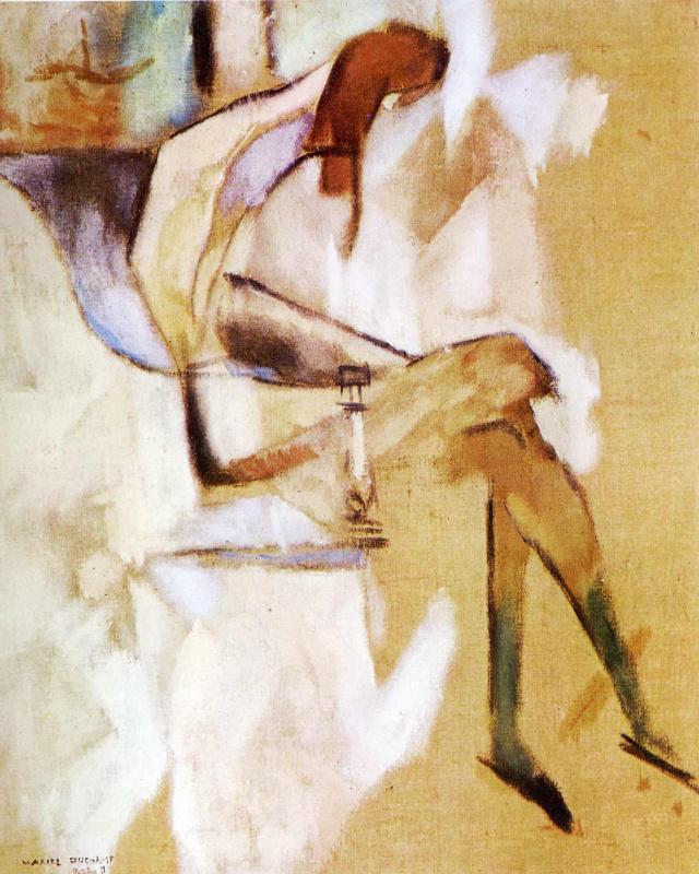 Марсель Дюшан. Сидящая рыжеволосая девушка