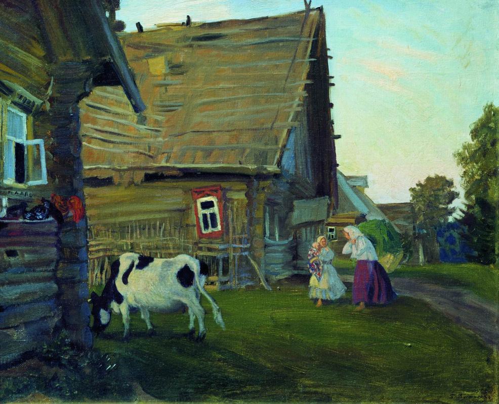 Boris Kustodiev. Hut. Kostroma province