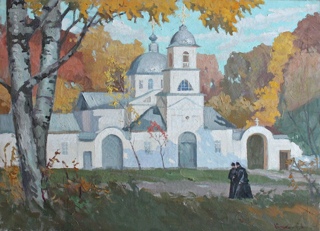 Sergey Alekseevich Kuzkin. Sretenskaya Church, Autumn
