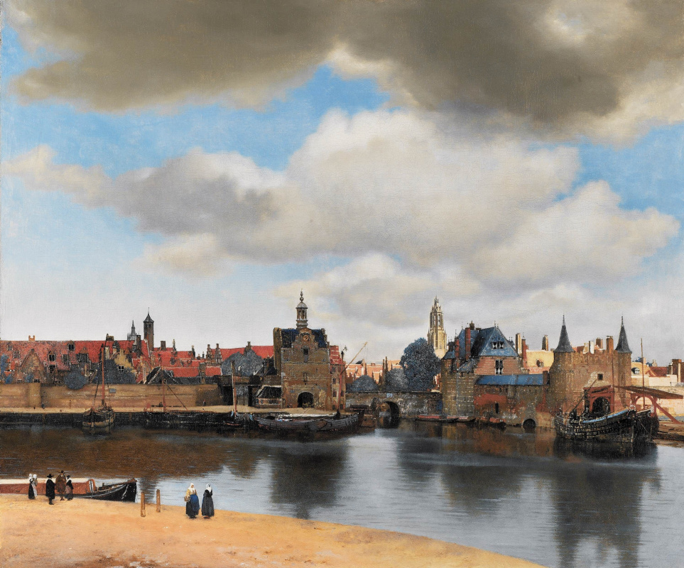 Jan Vermeer. Delft view