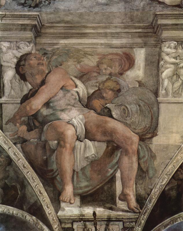 Микеланджело Буонарроти. Пророк Иона