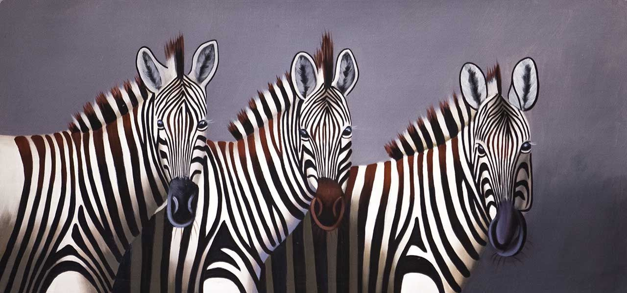 (no name). Zebras. Monochrome N3