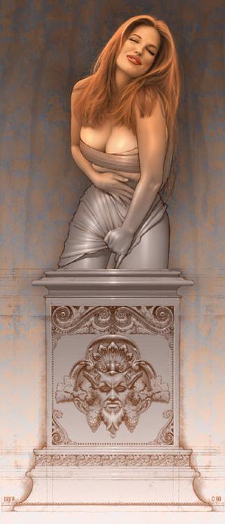 Дрю Посада. Статуя
