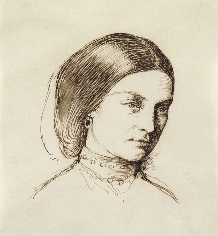 William Holman Hunt. Portrait of a young woman