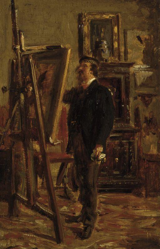 Giovanni Boldini. Portrait of Christian Bunty at work
