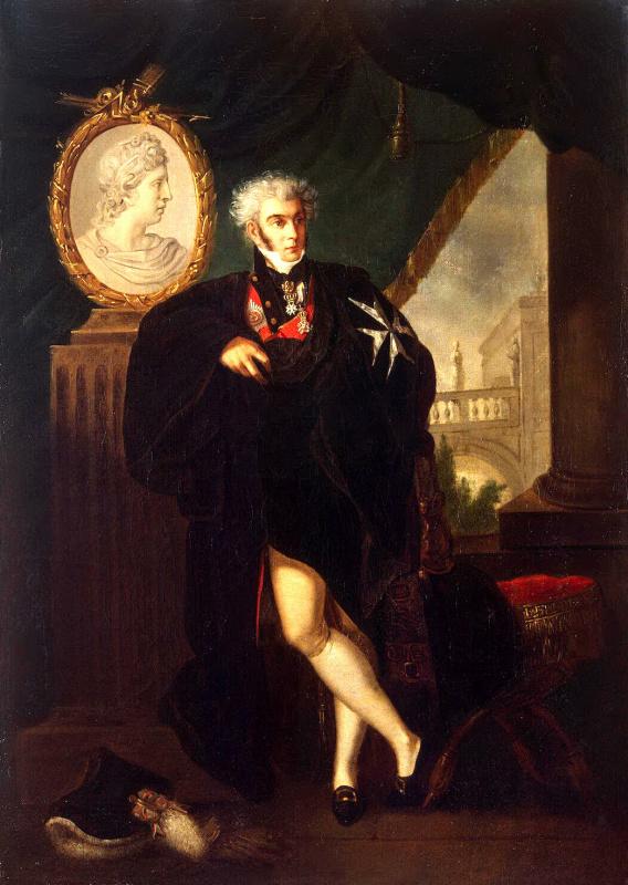 Ludwig Guttenbrunn. Portrait Of Dmitry Lvovich Naryshkin