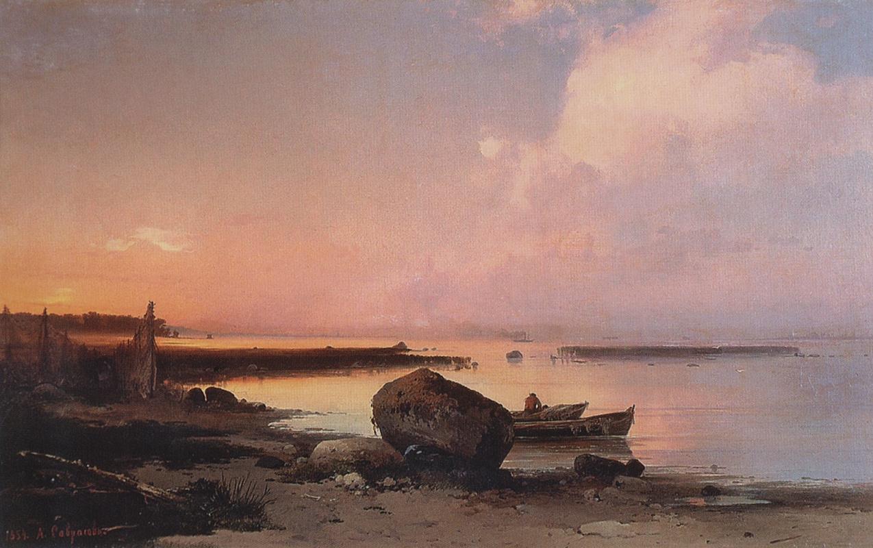Alexey Savrasov. Sea shore in the vicinity Oranienbaum