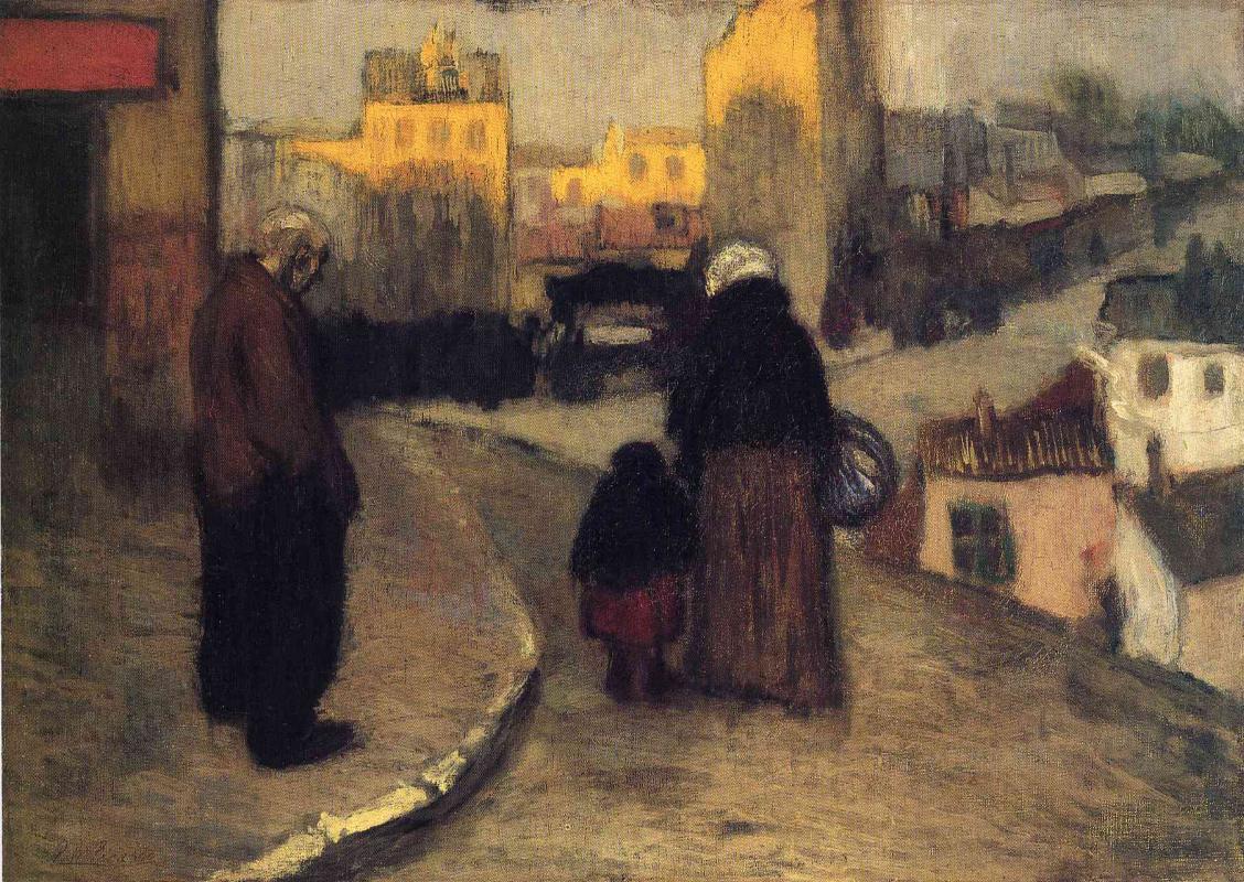 Пабло Пикассо. Уличная сцена