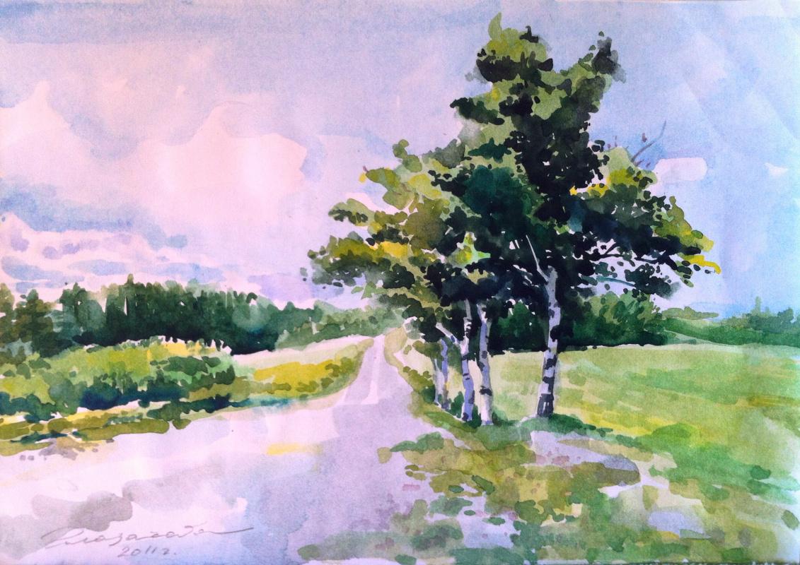 Olga Glazacheva. Birch trees