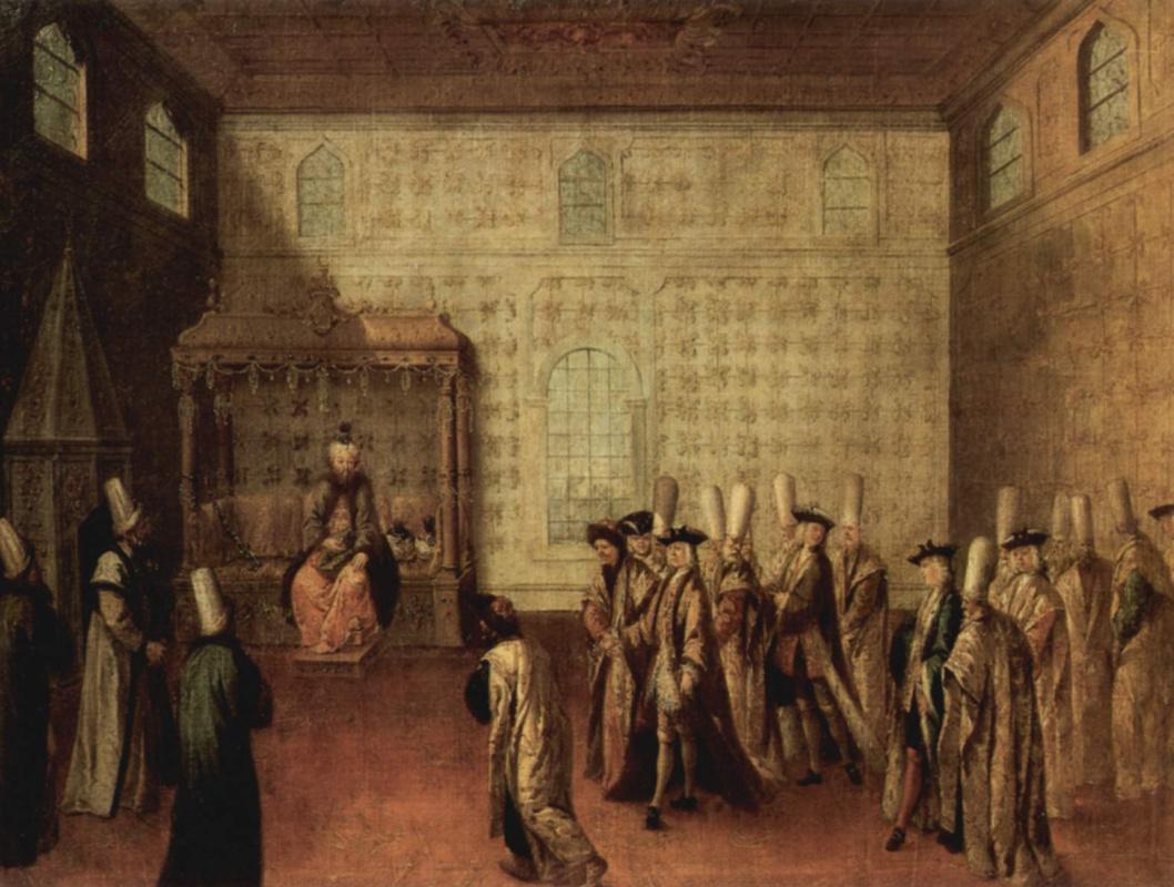 Жан-Батист ван Маур. Прием французских послов