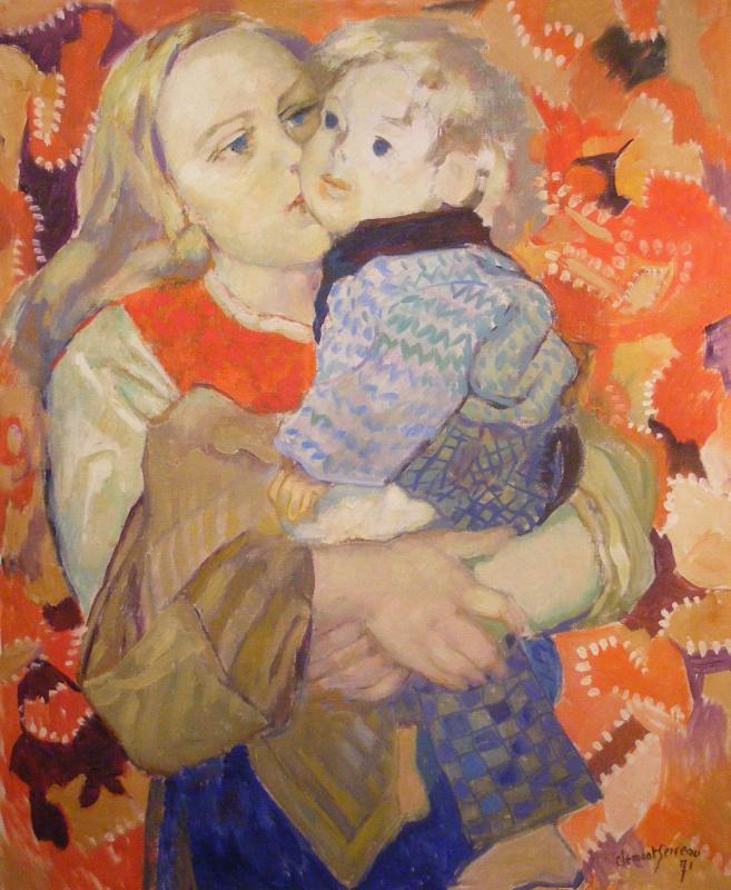 Анри Клеман-Серво. Мать и дитя