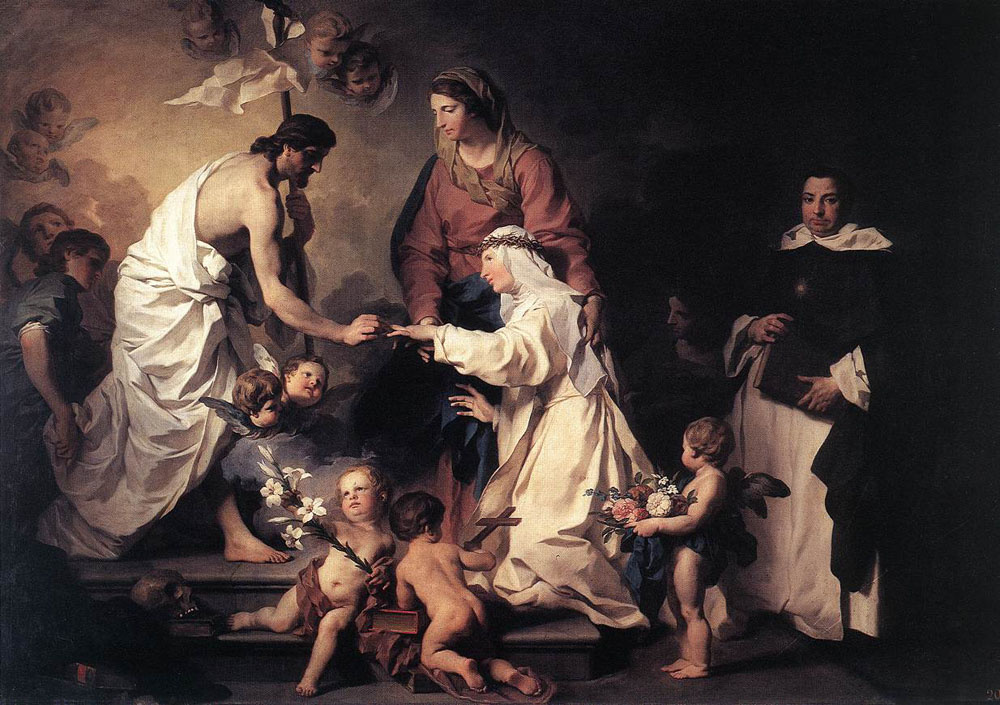 Пьер Сублеурас. Брак Святой Екатерины де Риччи