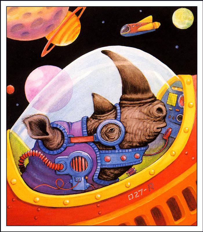 Роджер Шуинар. Носорог в космосе