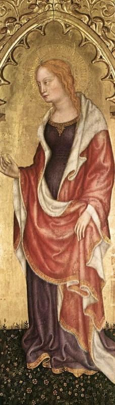 Джентиле да Фабриано. Святая Екатерина. Фрагмент полиптиха из монастыря в Валле Ромита