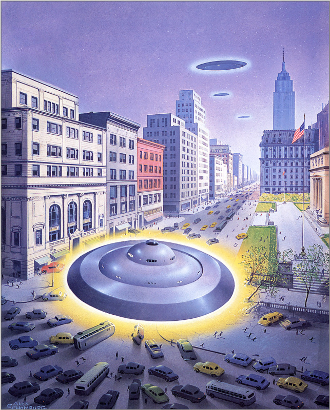 Алекс Шомбург. Летающая тарелка в Манхэттене