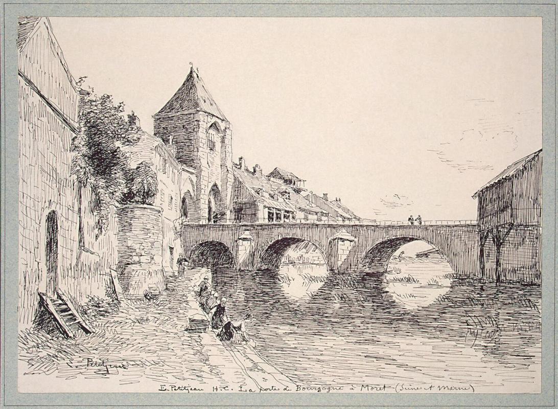 Эдмон Птижан. Вид Бургундских ворот в городе Маре