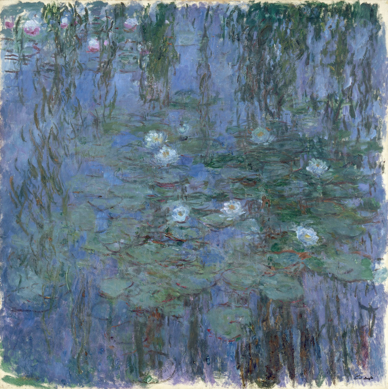 Claude Monet. Blue water lilies