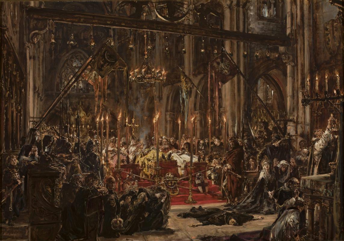 Ян Матейко. Похоронная церемония в соборе Вроцлава, объединение 1241 года