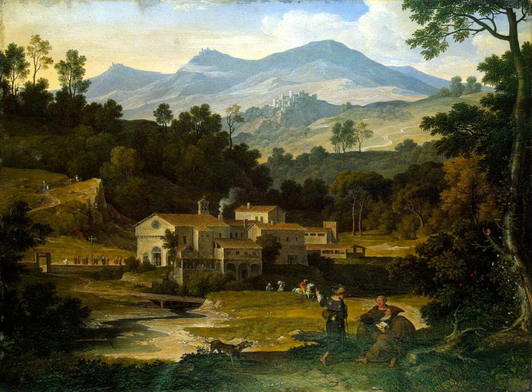 Йозеф Антон фон Кох. Монастырь Сан Франческо ди Чивителла в Сабинских горах