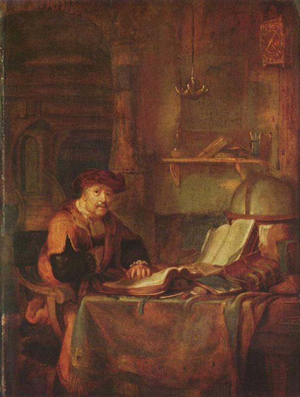 Гербрандт ван ден Экхаут. Ученый за книгами