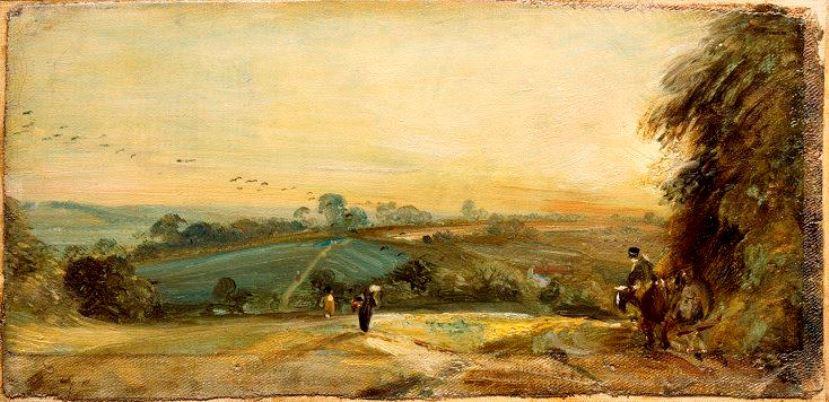 John Constable. Autumn sunset