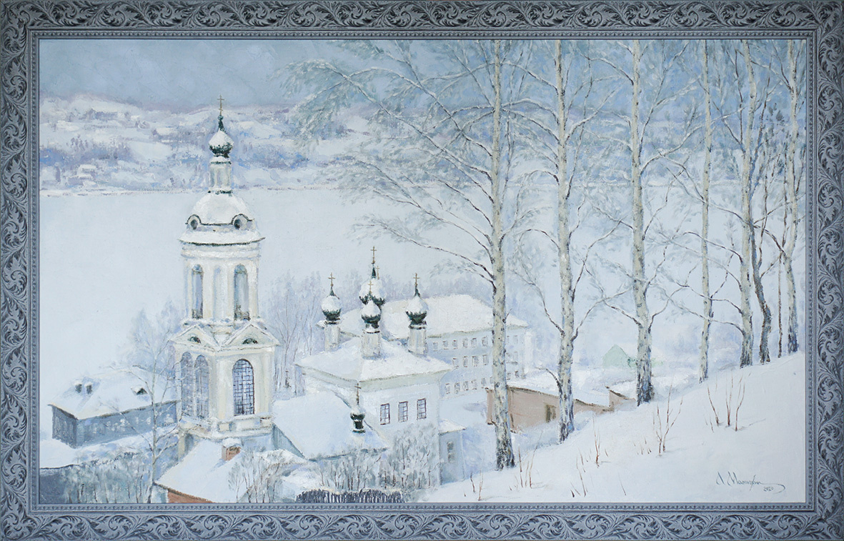Alexander Matyukhin. 2020. Winter Plyos (oil on canvas 60x100 cm)