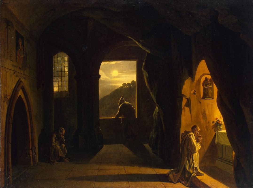 Франсуа Мариус Гране. Монахи в пещере