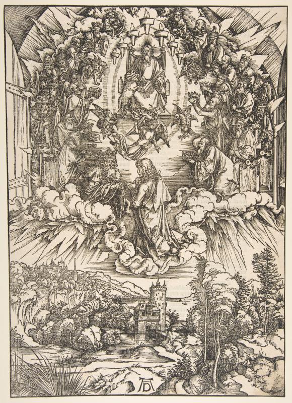 Альбрехт Дюрер. Иоанн перед Богом и двадцатью четырьмя старцами