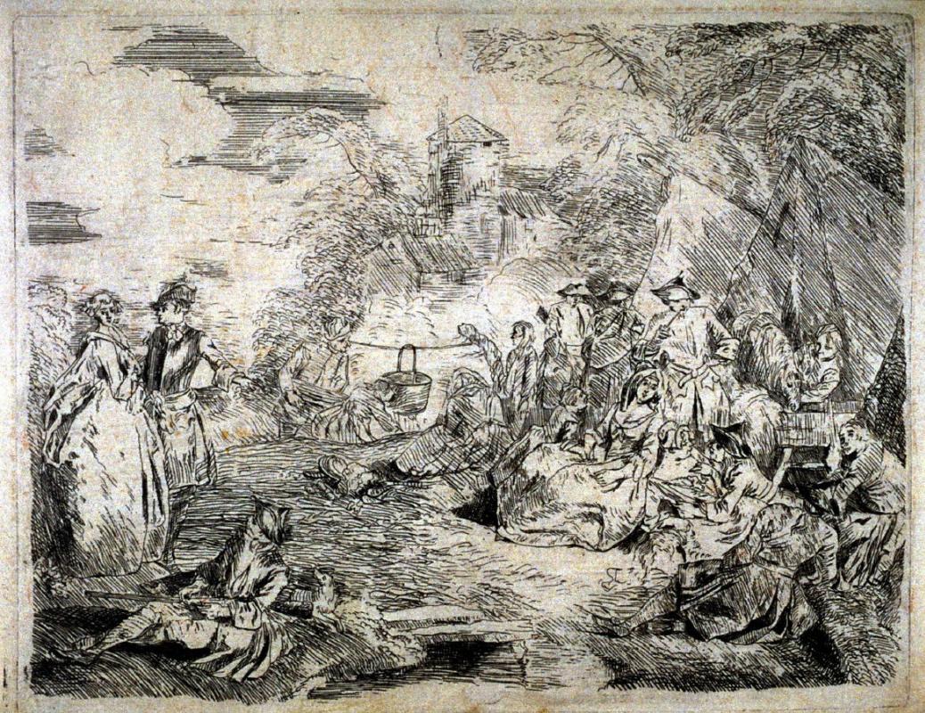 Антуан Ватто. Праздник в саду