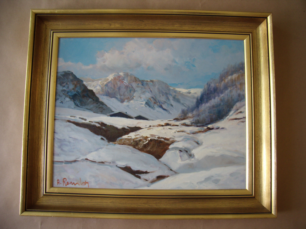 Unknown artist. Mountain landscapes of Norway.