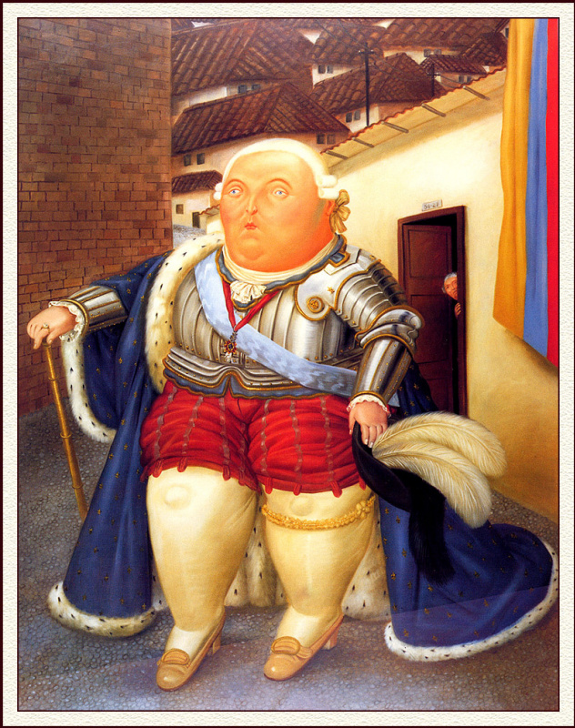 Fernando Botero. Louis XVI's visit to Medellin