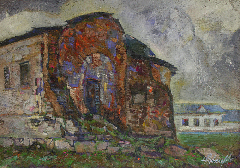 Maria Zhivilo. Ruins of an ancient temple